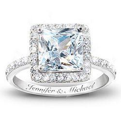 Personalized Diamonesk Bridal Ring