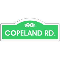 Family Name Street Sign