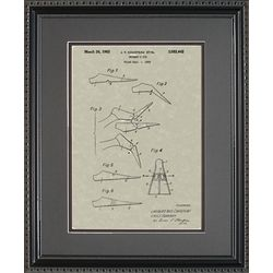 Scuba Diving Fins Patent Framed Print