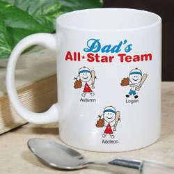 Personalized All Star Team Mug