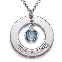 Personalized Mother's Circle Necklace