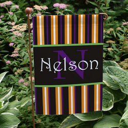 Personalized Halloween Welcome Garden Flag