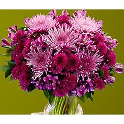 Perfectly Purple Fall Blooms Bouquet