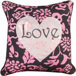 Heart of Hearts Damask Print Pillow