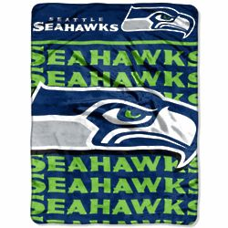 Seattle Seahawks Living Large Raschel Throw Blanket