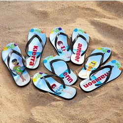 Personalized Beach Babe Flip Flops