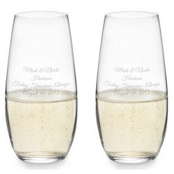 Personalized Stemless Champagne Glasses