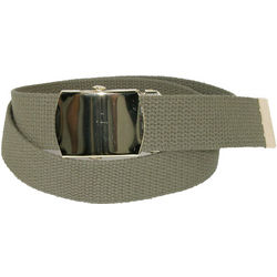 Kids Cotton Belt with Military Buckle Set