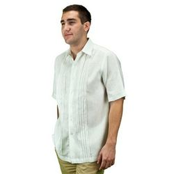 Men's White Beach Wedding Guayabera