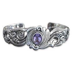 Regal Ivy Amethyst Cuff Bracelet