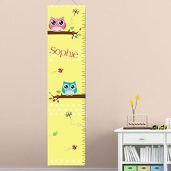 Playful Owl Personalized Growth Chart