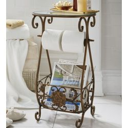 Bronzetone Butler Bathroom Stand