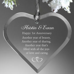 Anniversary Wishes Engraved Ornament