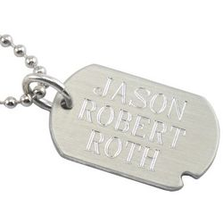 Engraved Pewter Dog Tag