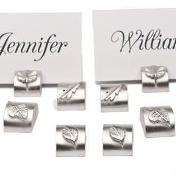 Leaves Pewter Place Card Holders