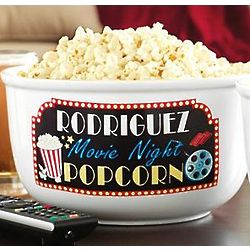 Personalized Movie Night Popcorn Bowl