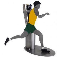 Runner Pen Holder and Desk Sculpture
