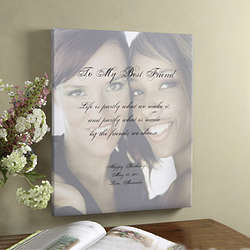 Personalized Friendship Portrait and Poem Art Print