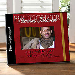 Personalized Firefighter Picture Frame