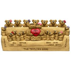 Grandparent's Personalized Thanks-a-Bunch Bear Couch