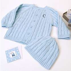 Baby Boy Knit Sweater and Hat Set
