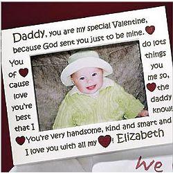 Personalized 5x7 Daddy Valentine Frame