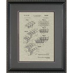 Legos Patent Framed Print