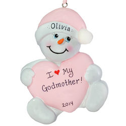 I Love My Godmother Snowbaby Ornament