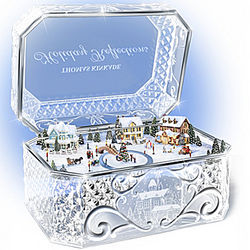 Animated Crystal Holiday Music Box