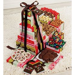 Popcorn and Sweets Striped Gift Tower