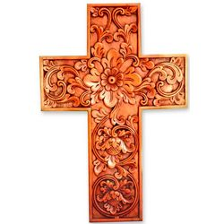 Samblung Flowers Mahogany Cross