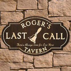 Last Call Custom Wood Signature Series Pub Sign