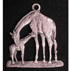 Giraffe Family Pewter Ornament