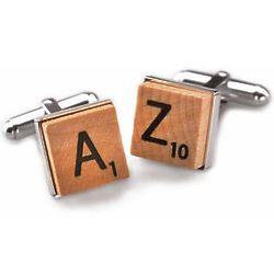 Sterling Silver Scrabble Tile Cufflinks