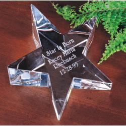 Crystal Star Personalized Paperweight