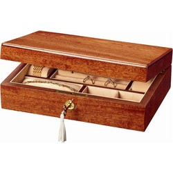 Compact Mahogany Jewelry Box