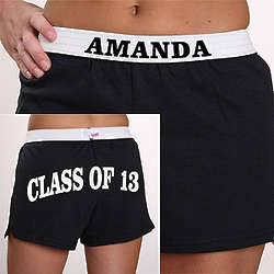 Graduation Athletic Shorts in Black