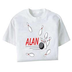 Personalized Striking Bowling T-Shirt