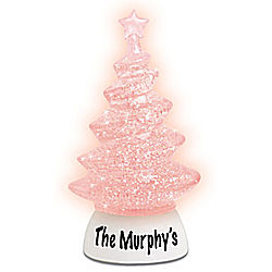 Personalized LED Glitter Ornament