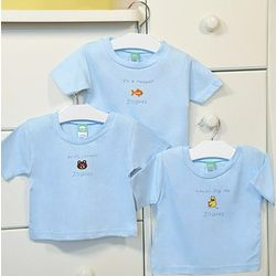 """It's A Boy!"" Personalized Baby T-Shirts"