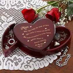 Mom's Someone Like You Personalized Heart Jewelry Box