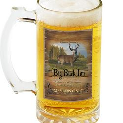 Personalized Big Buck Inn Beer Mugs