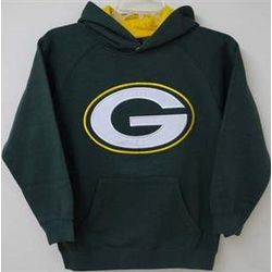 Packers Boy's Green Sportsman Hoodie
