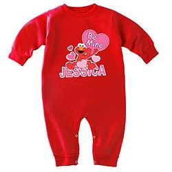 Personalized Character Valentine Fleece Romper