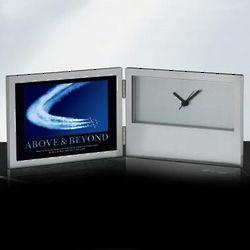 Engravable Above & Beyond Jets Desk Clock