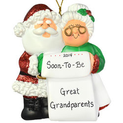 Personalized Soon To Be Great Grandparents Ornament