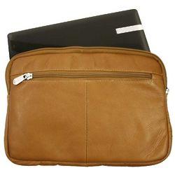 Saddle Leather Mini Zip Laptop Sleeve