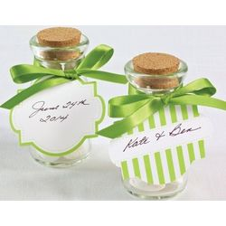 Double Sided Green Favor Tags
