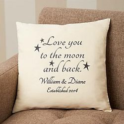 Personalized Love You to the Moon and Back Pillow