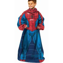 Spiderman Youth Throw Blanket with Sleeves